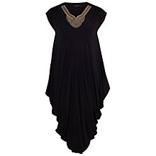 Buy Chesca Stud Neckline Draped Dress, Black Online at johnlewis.com