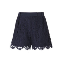 Buy Whistles Holly Lace Shorts, Navy Online at johnlewis.com