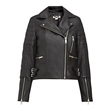 Buy Whistles Dylan Biker Jacket, Black Online at johnlewis.com