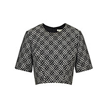 Buy Whistles Fran Crop Top, Black and White Online at johnlewis.com
