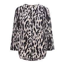 Buy Whistles Daphne Tyler Animal Print Top, Multi Pink Online at johnlewis.com