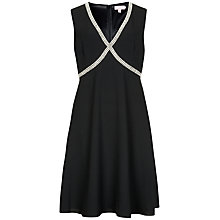 Buy Ted Baker Embellished Cross Over Front Dress, Black Online at johnlewis.com