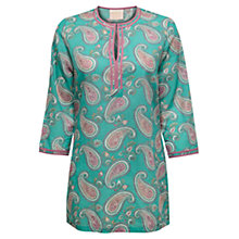 Buy East Pemba Paisley Print Kurta Top, Celadon Online at johnlewis.com