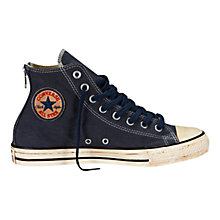 Buy Converse Chuck Taylor All Star Back Zip High-Top Trainers, Navy Online at johnlewis.com