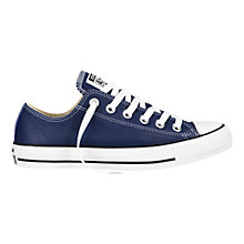 Buy Converse Chuck Taylor All Star Ox Leather Trainers, Victoria Blue Online at johnlewis.com