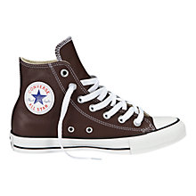 Buy Converse Chuck Taylor All Star Leather Hi-Top Trainers, Burnt Umber Online at johnlewis.com