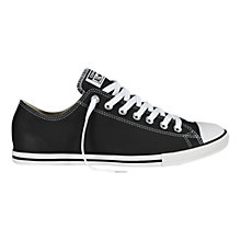 Buy Converse Chuck Taylor All Star Lean Leather Trainers, Black Online at johnlewis.com
