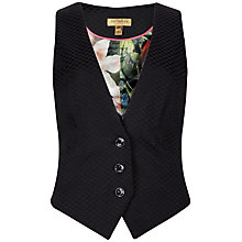 Buy Ted Baker Jacquard Waistcoat, Black Online at johnlewis.com