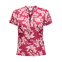 Buy East Mahika Short Sleeve Shirt, Raspberry Online at johnlewis.com