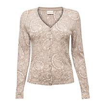 Buy East Fern Print Cotton Cardigan, Stone Online at johnlewis.com