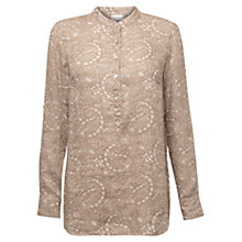 Buy East Fern Print Linen Shirt, Stone Online at johnlewis.com
