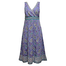 Buy East Pemba Paisley Print Linen Dress, Lavender Online at johnlewis.com