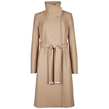 Buy Ted Baker Nevia Belted Wrap Coat, Taupe Online at johnlewis.com