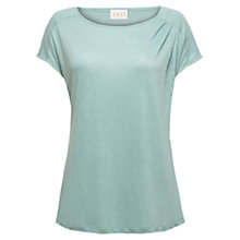 Buy East Pleat Detail Linen Top, Duckegg Online at johnlewis.com