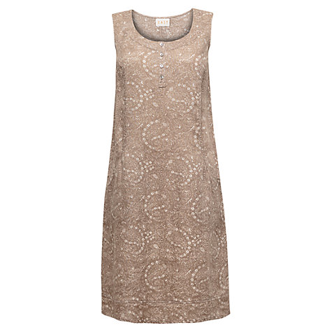 Buy East Fern Linen Print Dress, Stone Online at johnlewis.com