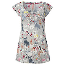 Buy White Stuff Chip French Bulldog Print Tunic Top, Multi Grey Online at johnlewis.com
