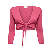 Buy East Cotton Gauze Tie Shrug, Raspberry Online at johnlewis.com