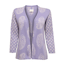 Buy East Paisley Edge To Edge Cardigan, Lavender Online at johnlewis.com