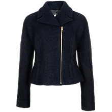 Buy Ted Baker Wool Biker Jacket, Navy Online at johnlewis.com