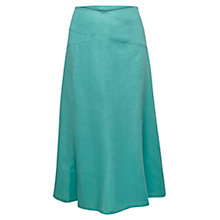 Buy East Cross Panel Linen Skirt, Celadon Online at johnlewis.com