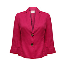 Buy East Casual Linen Jacket, Raspberry Online at johnlewis.com