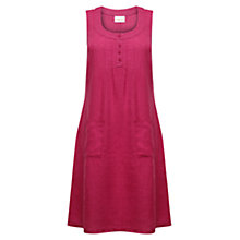 Buy East Pintuck Button Linen Dress Online at johnlewis.com