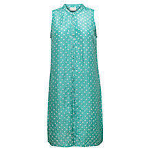 Buy East Bandhini Sleeveless Silk Tunic Dress, Celadon Online at johnlewis.com