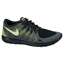 Buy Nike Free 5.0 Glow Trainers, Black Online at johnlewis.com