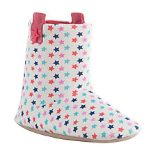 Buy John Lewis Star Print Jersey Slipper Boots, Multi Online at johnlewis.com