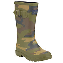 Buy Little Joule Camouflage Wellington Boots, Khaki Online at johnlewis.com