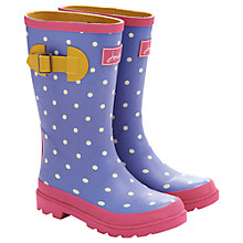 Buy Little Joule Spot Wellingtons, Pale Blue/White Online at johnlewis.com