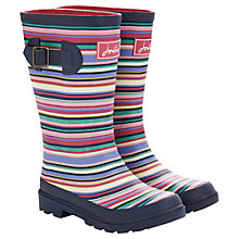 Buy Little Joule Multi Stripe Wellington Boots, Pink/Multi Online at johnlewis.com