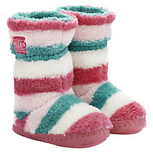 Buy Little Joule Striped Slippers, Cream/Multi Online at johnlewis.com