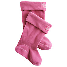 Buy Little Joule Wellington Socks, Hot Pink Online at johnlewis.com