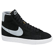 Buy Nike Blazer Mid-Top Vintage Trainers, Black/White Online at johnlewis.com