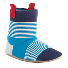 Buy John Lewis Striped Jersey Slipper Boots, Blue/Navy Online at johnlewis.com