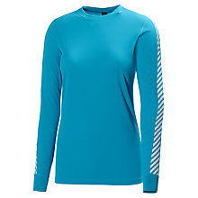 Buy Helly Hansen Women's Dry Stripe Base Layer Crew Top, Frozen Blue Online at johnlewis.com