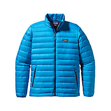 Buy Patagonia Windproof Down Sweater Jacket,Blue Online at johnlewis.com