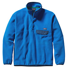 Buy Patagonia Synchila Snap T-Fleece Pullover, Andes Blue Online at johnlewis.com