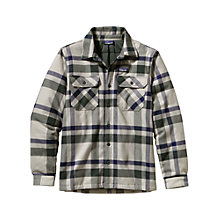 Buy Patagonia Insulated Fjord Flannel Jacket, Stone Online at johnlewis.com