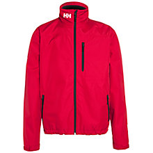 Buy Helly Hansen Crew Midlayer Waterproof Jacket, Red Online at johnlewis.com