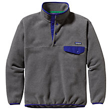 Buy Patagonia Synchila Snap T-Fleece Pullover, Nickel Grey Online at johnlewis.com