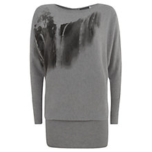 Buy Mint Velvet Noa Print Knit Top, Grey Online at johnlewis.com