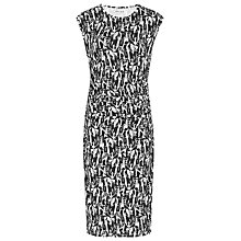 Buy Reiss Rica Print Jersey Dress, Black/White Online at johnlewis.com