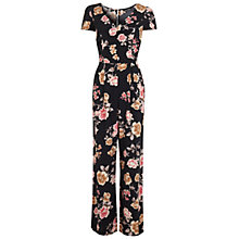 Buy Miss Selfridge Floral Wide Leg Jumpsuit, Assorted Online at johnlewis.com
