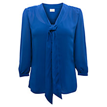 Buy East Tie Front Blouse, Cobalt Online at johnlewis.com