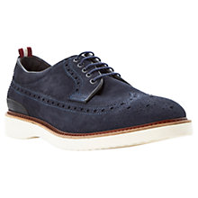 Buy Bertie Beat It Suede Brogue Shoes, Navy Online at johnlewis.com