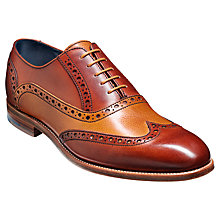 Buy Barker Full Leather Brogues, Rosewood Calf Online at johnlewis.com