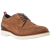 Buy Bertie Beat It Suede Brogues, Tan Online at johnlewis.com