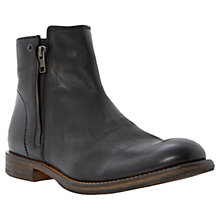 Buy Bertie Campus Double Zip Leather Boots Online at johnlewis.com